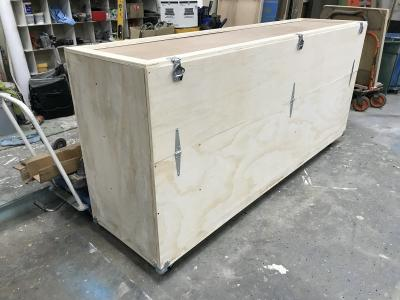 Shipping crate for phone booth