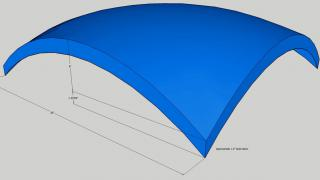 Roof shell design thermo-formed plastic